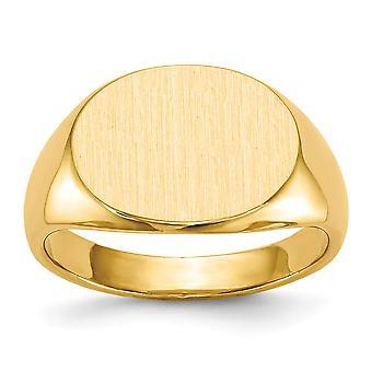 14 k geel gouden Engravable Mens Signet Ring - 9,5 gram - Size 10