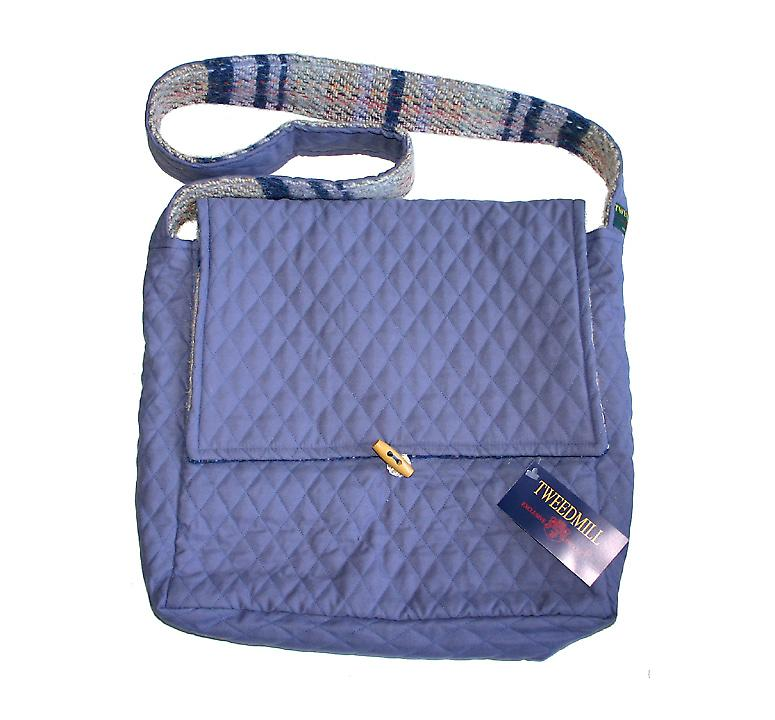Lilac Quilted & Wool Random Recycled Shoulder Bag