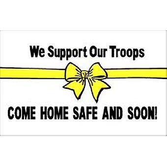 Nuestra bandera de blanco de las tropas de la ayuda 5 pies x 3 pies con ojales