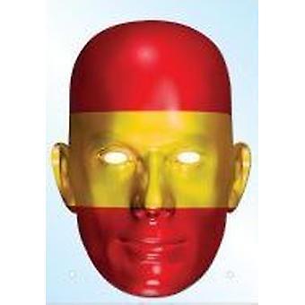 Spania flagg maske