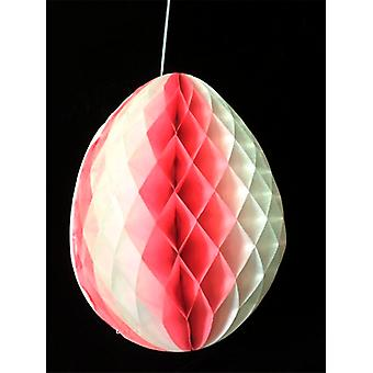 Pink & White Tissue Egg Decoration