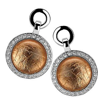 Orphelia Silver 925 Drop Earring Glass 24Cr Rose Gold Sheet Zirconium  ZO-5202/1