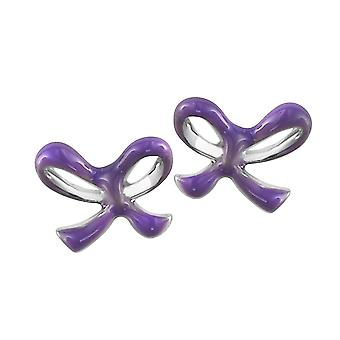 Orphelia Silver 925 Kids Earring Purple Bow  ZO-6059/1