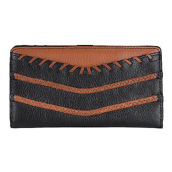 FOSSIL Dames portemonnee tas munt portemonnee met RFID-chip bescherming zwart 5879
