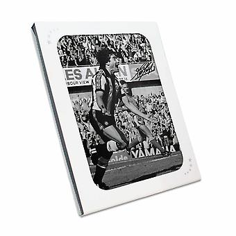 Kevin Keegan Signed Newcastle United Photo: Sensational Debut Goal. In Gift Box