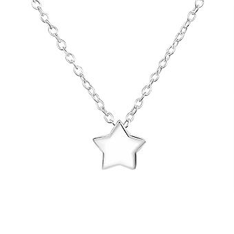 Star - 925 Sterling Silver Plain Necklaces - W34453x