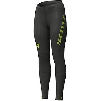 RC Run Womens Full Length Running Tights Black/Yellow