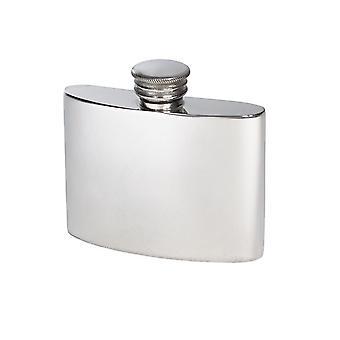 Plain Pewter Kidney Flask - 2oz