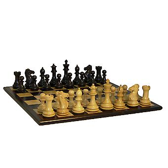 Svart exklusiv dubbel Queens Chess Set 4 tum Kings
