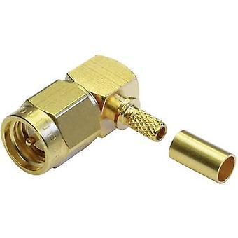 SMA connector Plug, right angle 50 Ω Telegärtner J01150A0071 1 pc(s)