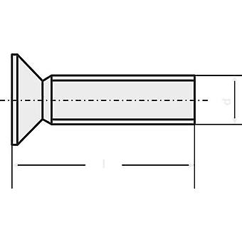 TOOLCRAFT 839908 verzonken schroeven M2 10 mm Torx DIN 965 roestvrij staal A2 20 PC('s)