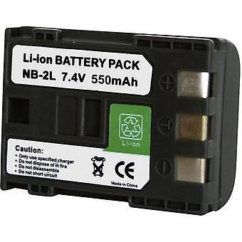 Camera battery Conrad energy replaces original battery NB-2L, NB-2LH 7.2