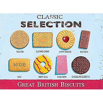 Classic Biscuit Selection Small Metal Sign 200Mm X 150Mm