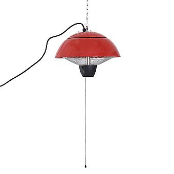 Outsunny Aluminium Patio Heater Hanging Ceiling 1500W Halogen Gazebo Electric Red