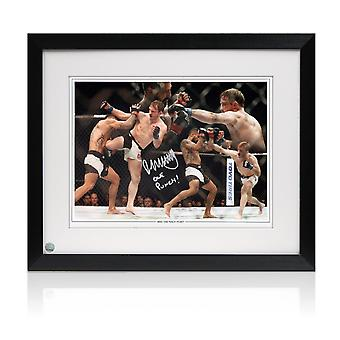 Framed Brad Pickett Signed UFC Montage