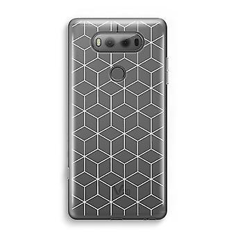 LG V20 Transparent Case - Cubes black and white