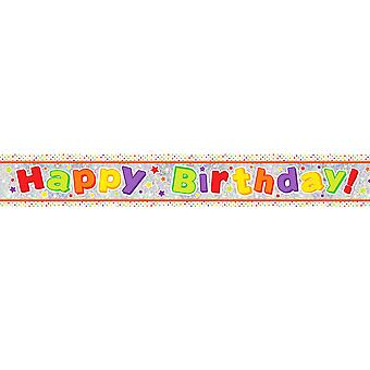 Amscan Happy Birthday Holographic Foil Banner
