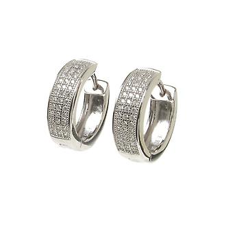 Cavendish Franse CZ Classic Sterling Zilver Hoop Earrings