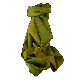 Vietnamesisk silkeskjerf reversibel Hoi-en Xen-Ban Jade & oliven ved Pashmina & Silk