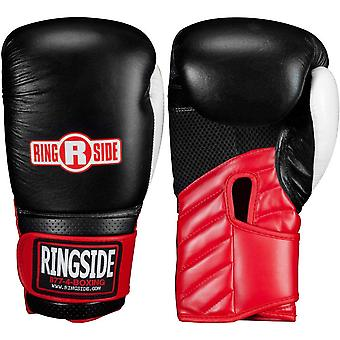 Ringside Gym Sparring IMF Tech Hook and Loop Boxing Gloves - Black/Red