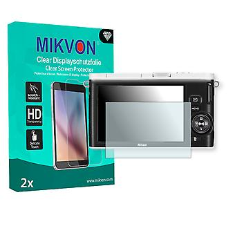 Nikon 1 J3 Screen Protector - Mikvon Clear (Retail Package with accessories)