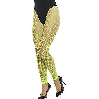 Leggings Net panty's, Neon groen