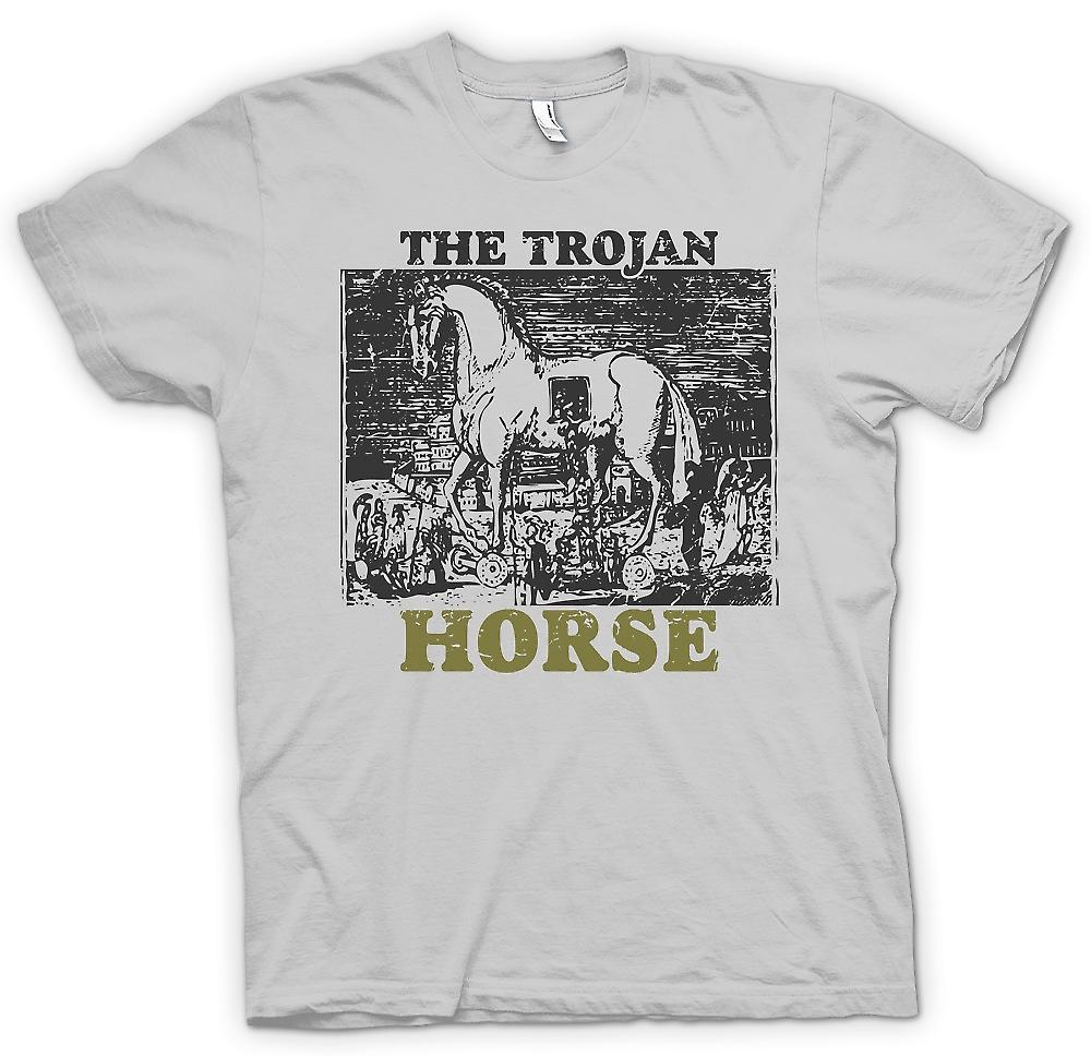 Mens T-shirt - le cheval de Troie - Troy