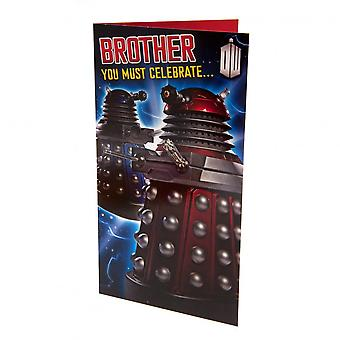 Doctor Who Brother Birthday Card