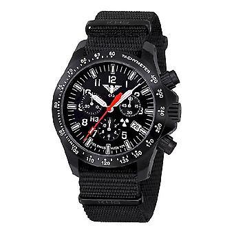 KHS watches mens watch black platoon chronograph LDR KHS. BPCLDR.NB