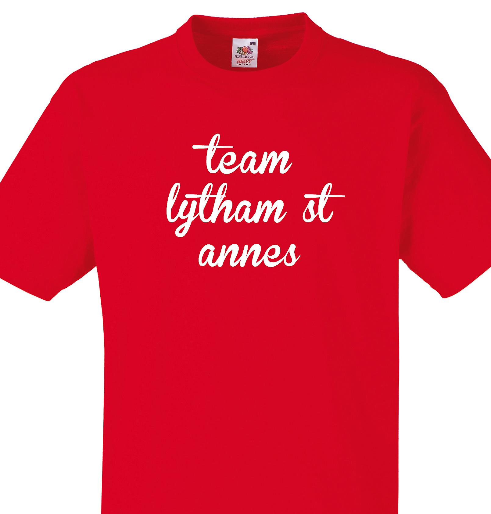 Team Lytham st annes Red T shirt