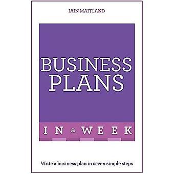 Business Plans in a Week: Write a Business Plan in Seven Simple Steps