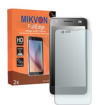 ZTE Grand S Flex screen protector - Mikvon FullEdge (screen protector with full protection and custom fit for the curved display)