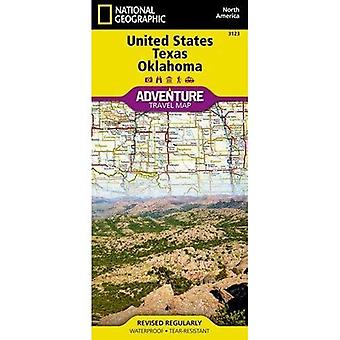 United States, Texas And Oklahoma Adventure Map