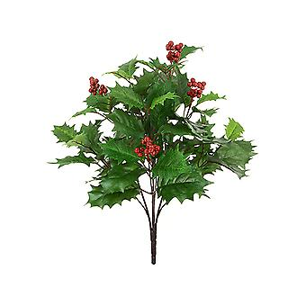 48cm Artificial Holly and Berry Bush Pick for Christmas Floristry Crafts