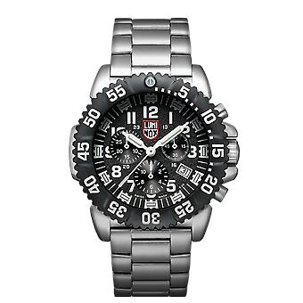 Luminox Navy SEAL Colormark Chrono 3180 Series Stainless Steel Men's Watch XS.3182.L