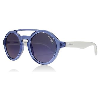 Carrera Junior Carrerino 19 Age 2-5 Years WWKXT White Blue Carrerino 19 Round Sunglasses Lens Category 3 Lens Mirrored Size 44mm