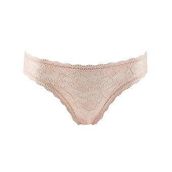 Aubade HK27 Women's Rosessence Nude D'ete Floral Lace Knickers Panty Full Italian Brief Brief
