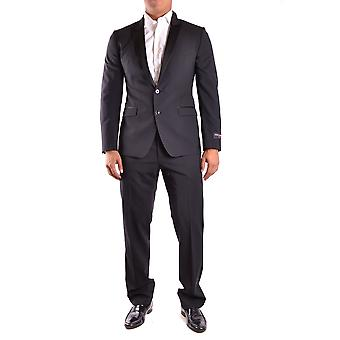 Dolce E Gabbana Black Wool Suit