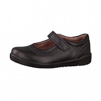 Ricosta Girls Lillia School Shoes Black Leather