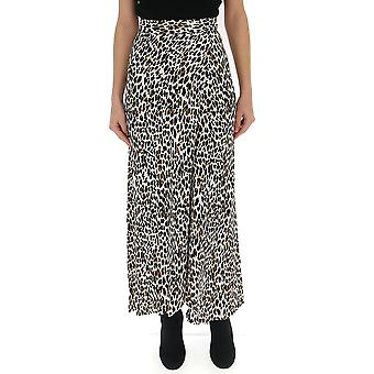 Andamane Leopard Cotton Skirt