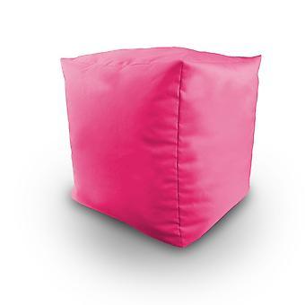 Rose résistant à l'eau Bean rempli cube pouf tabouret