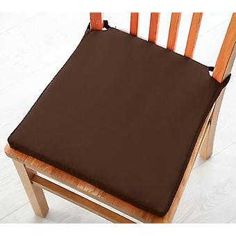 Pack of 6 Cotton Twill Dining Chair Seat Pad Cushion - Chocolate