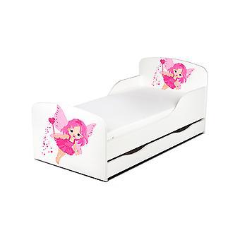 PriceRightHome Fairy støv barneseng seng med under seng opbevaring