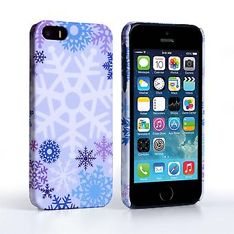 Caseflex iPhone 5 and 5S Winter Christmas Snowflake Cover – Purple