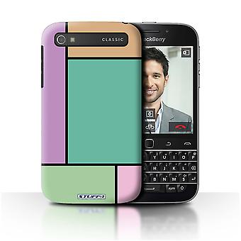 STUFF4 Case/Cover for Blackberry Classic/Q20/5 Tiles/Turquoise/Pastel Tiles