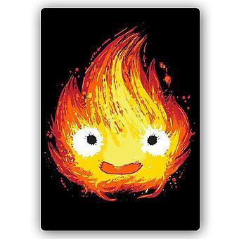 Metal Print, Cheerful Flame