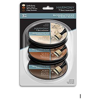 Spectrum Noir Ink Pad Harmony Water Reactive Earthy Browns | Set of 3