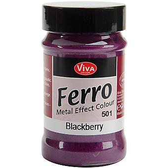 Ferro Metal Effect Textured Paint 3 Ounces Blackberry Vvferro 2501