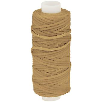 Waxed Braided Cord 25 Yard Spool Beige 11210 04