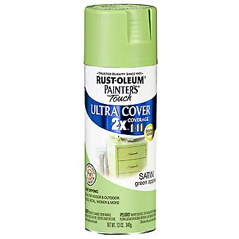 Painter's Touch Ultra Cover Satin Aerosol Paint 12 Ounces Green Apple Ptucs249 077